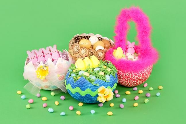Handcrafted Easter Egg Baskets.