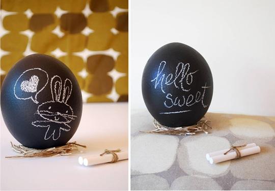 Chalkboard Easter eggs.