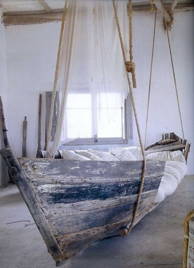 Upcycled Boat Bed.