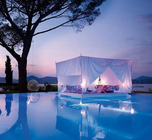 Floating Canopy Bed , France.