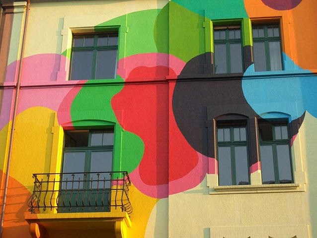 Painted house in Basel.