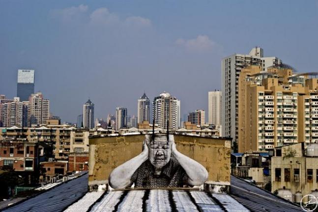 JR, mural