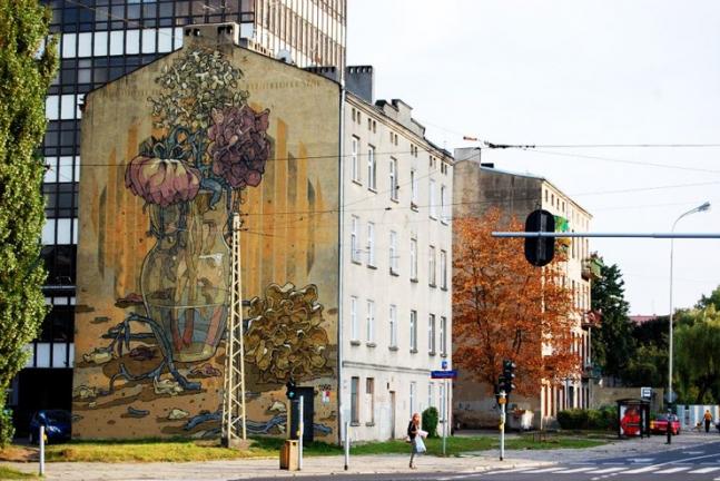 Lodz Street Mural.