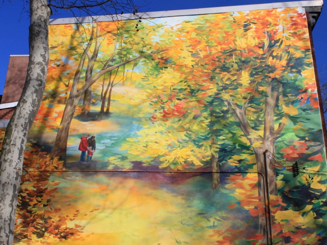 Autumn Revisited, wall mural.