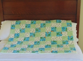 Cuddly Soft Flannel Baby Quilt from Blessed Home Quilting