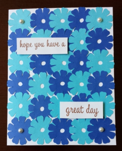 Evelyn Morocho Flower Garden card from NJ Creative Cards