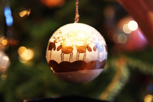 Photo of Christmas tree ornament - great for a greeting card