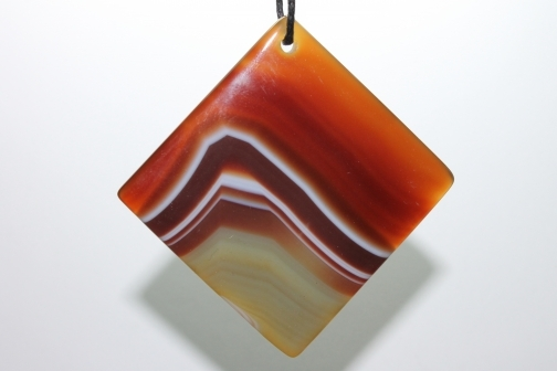 Agate Slice Focal Pendant - Beautifully stunning Brown and Green from Rockujewels on iCraft