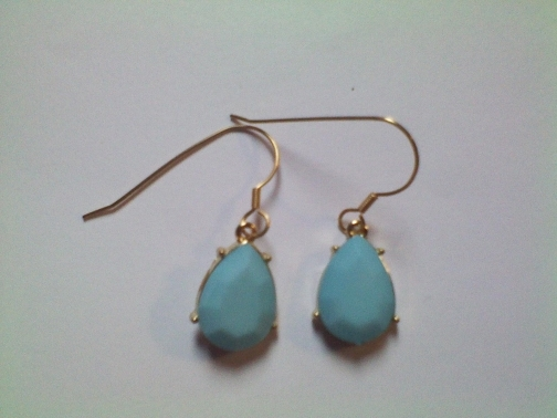 Blue Teardrop Earrings from Dawn's Creations on iCraft