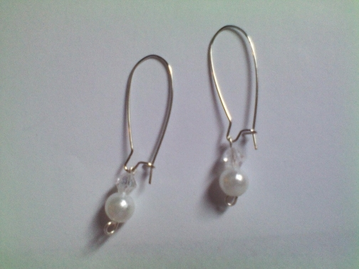 Dangling Pearl Earrings from Dawn's Creations on iCraft