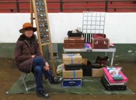 Alfi of Arte Fact Jewels pre-setup at First Market of the Season