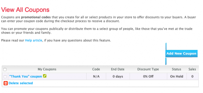 How to Increase your iCraft Sales Series: Part 3: Sales and Coupon