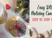 Easy DIY Holiday Coasters