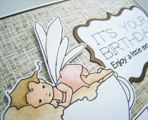 Fairy Birthday Card Coffee Lover's Treat