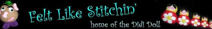 Hand Stitched Felt DiDi Dolls