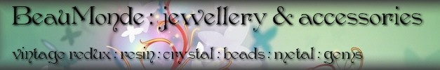 Jewellery & Accessories ~ Vintage redux with gems, crystal and precious metal