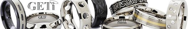 Titanium and Black Zirconium Rings